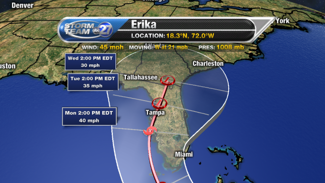 UPDATE: Erika finally turns more northwest, A look at