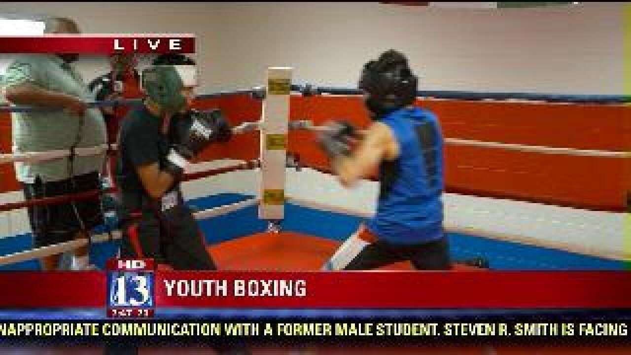 Youth boxing demonstration