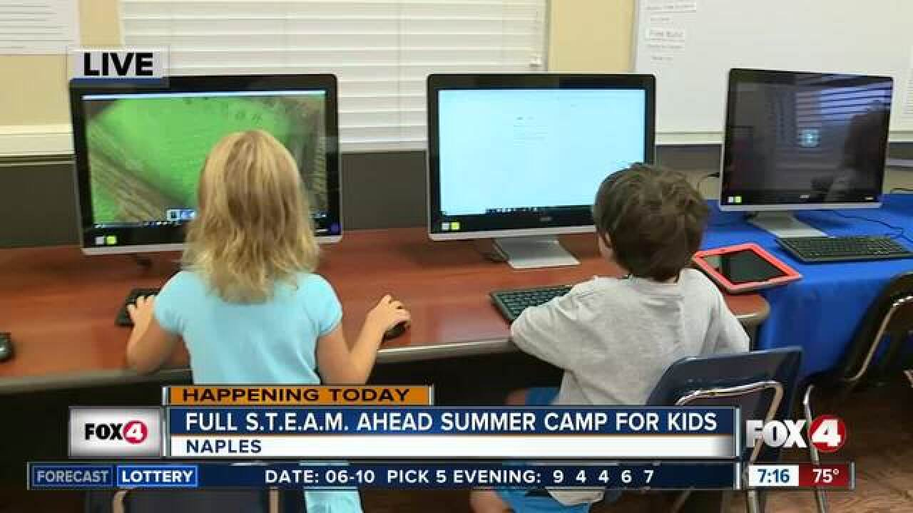 Full S.T.E.A.M. Ahead summer camp for kids