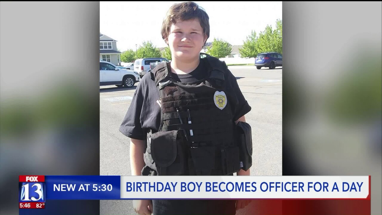 Utah boy gets birthday surprise from boys in blue