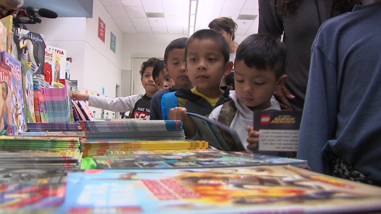10News employees, with help from the Scripps Howard Foundation, donated 3,000 books for National Reading Day