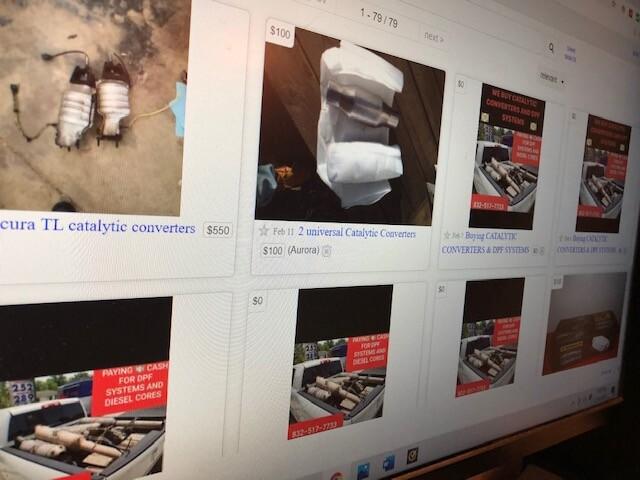 Craigslist catalytic converter listings