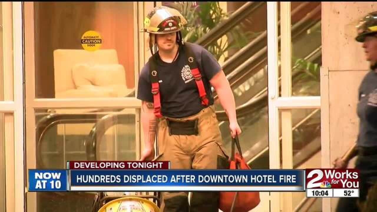 Downtown Tulsa hotel evacuated for fire