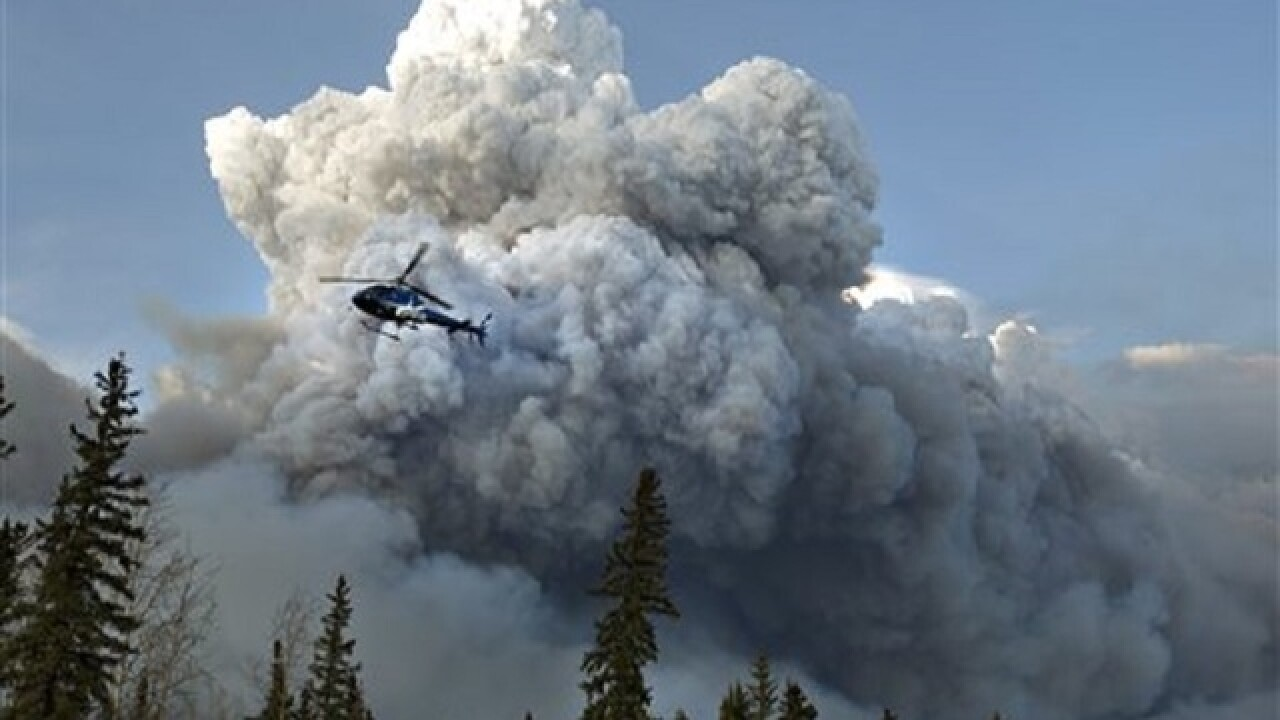 Officials fear Alberta wildfire could double