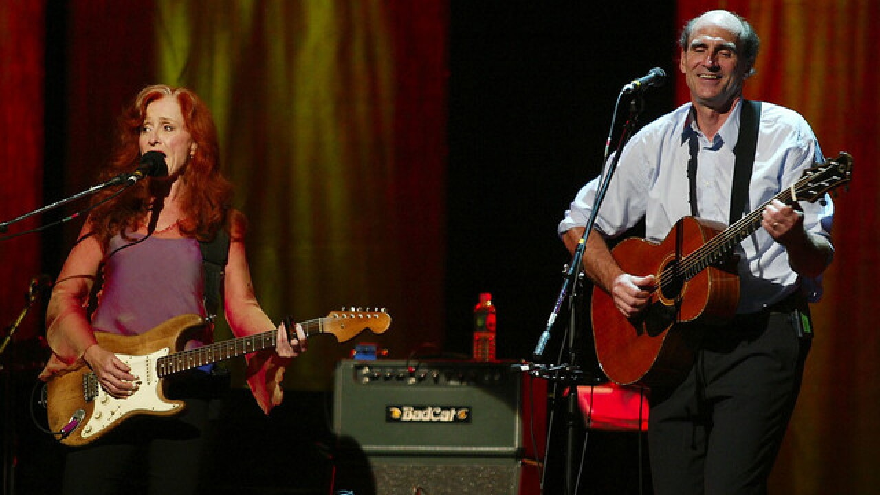 James Taylor, Bonnie Raitt announce joint show at Fiddler's Green in May