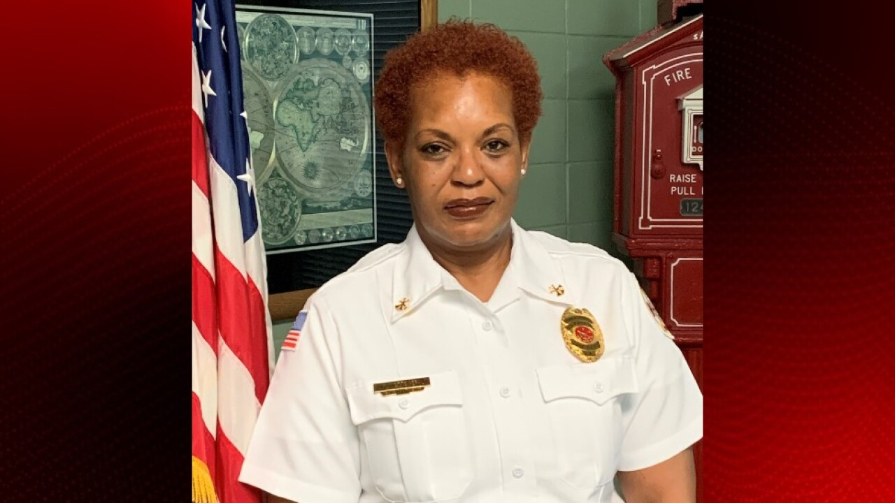 Chief Antoinette Gerald of the Lafayette Fire Department