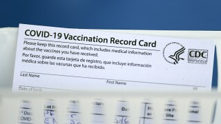 COVID-19 Vaccination Record Card vaccine card