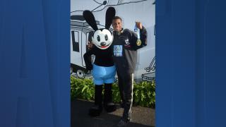 posing at Disney