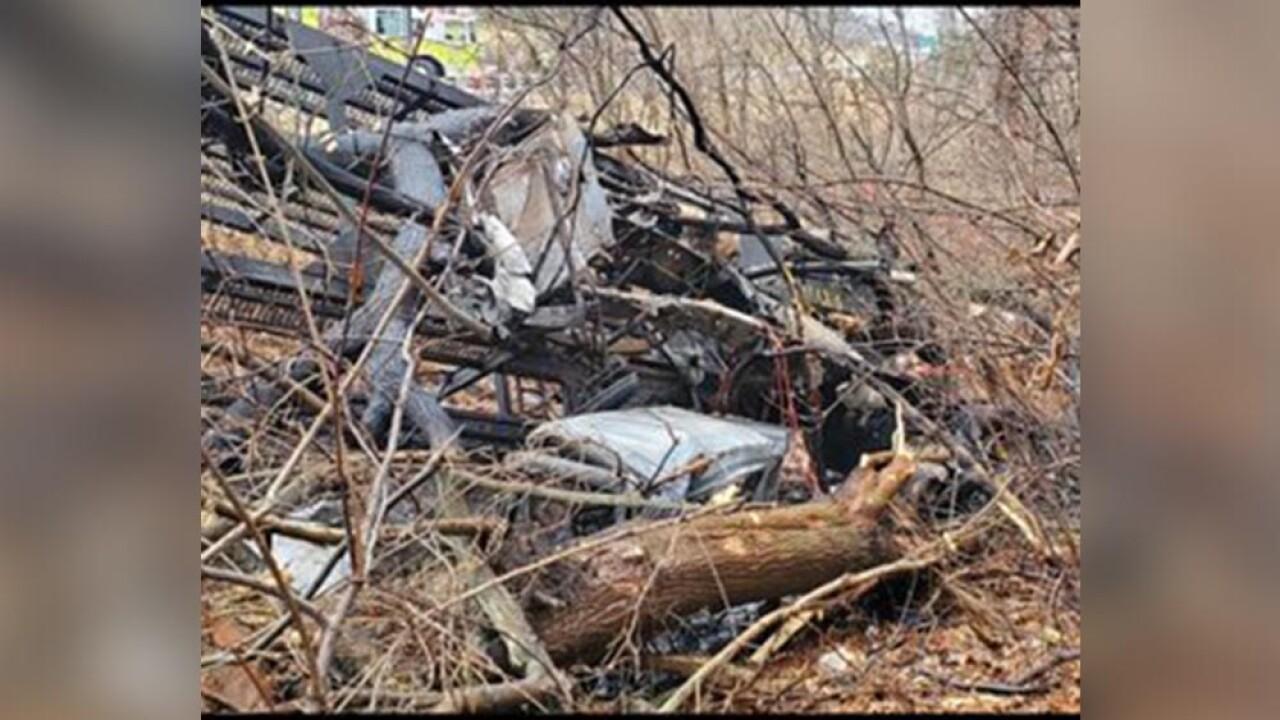 I-83 Truck car fire