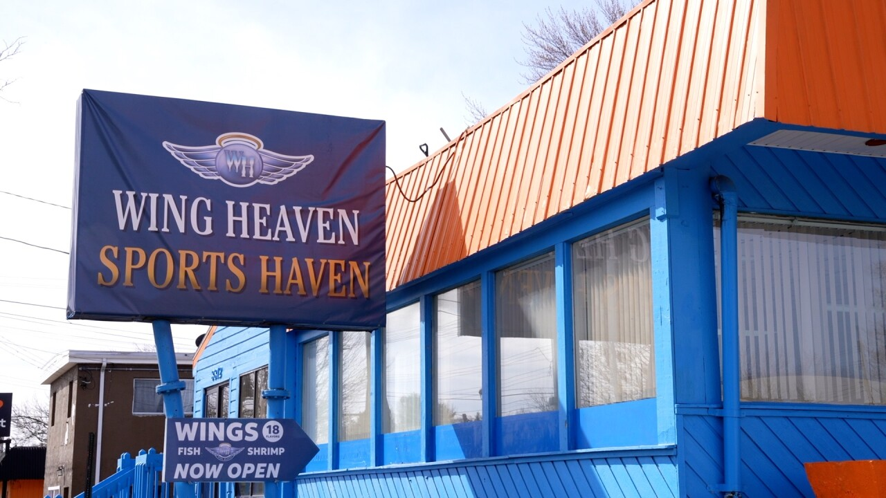 Wing Heaven Sports Haven sign