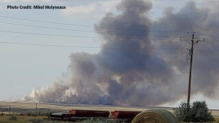 Fire burns hundreds of acres west of Havre