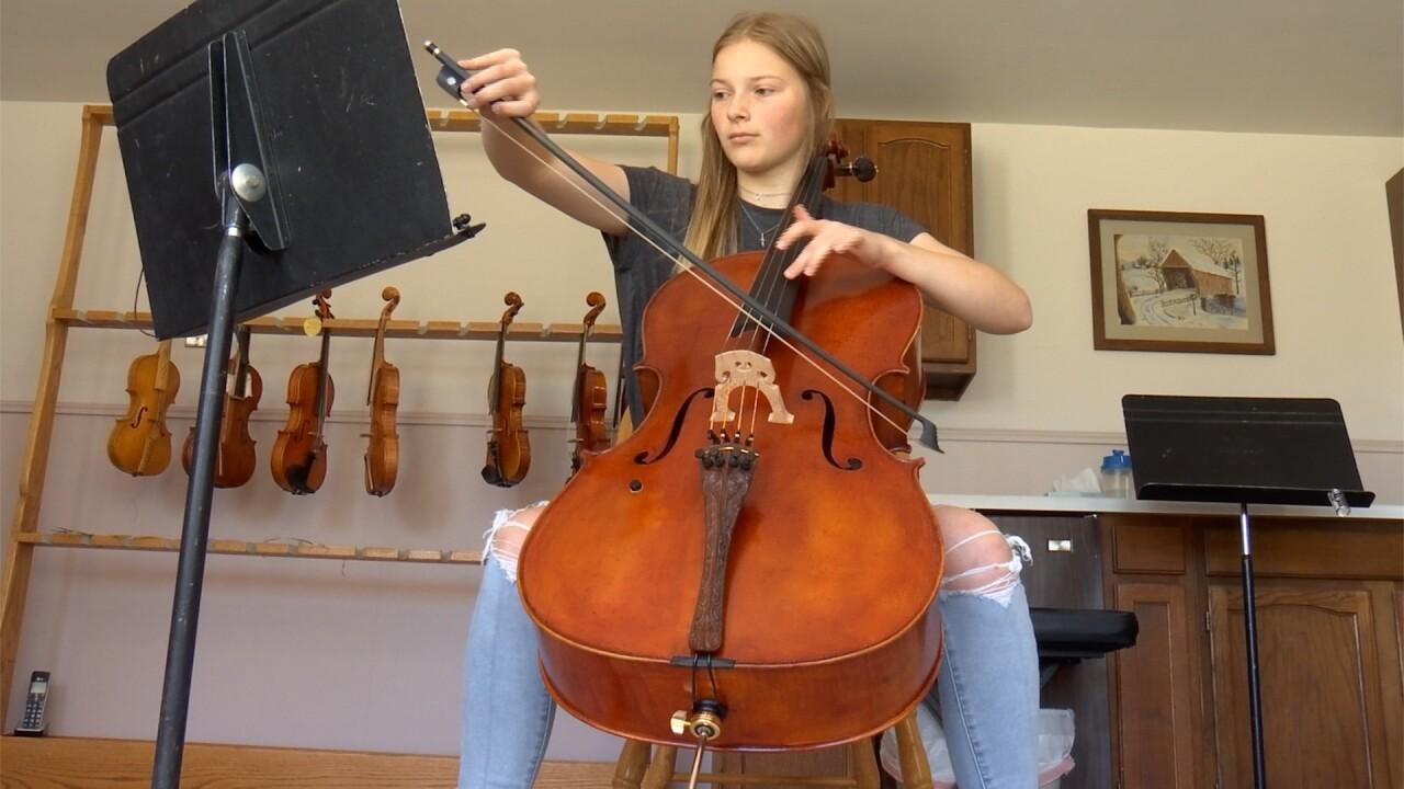 Allie Bullman cello playing