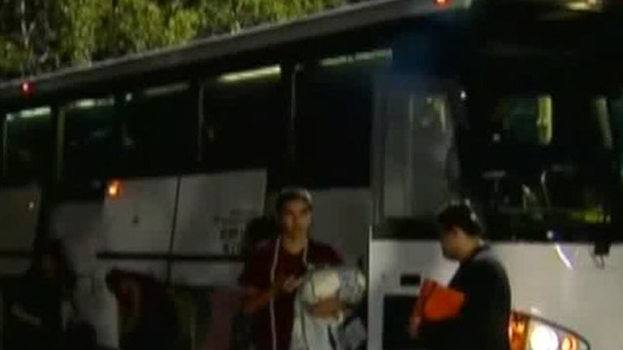 Stoneman Douglas High School students arrive back home from Tallahassee