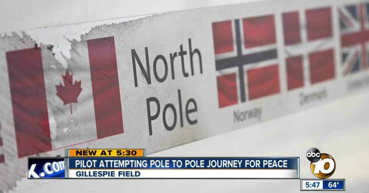 San Diego pilot attempting pole to pole flight for peace