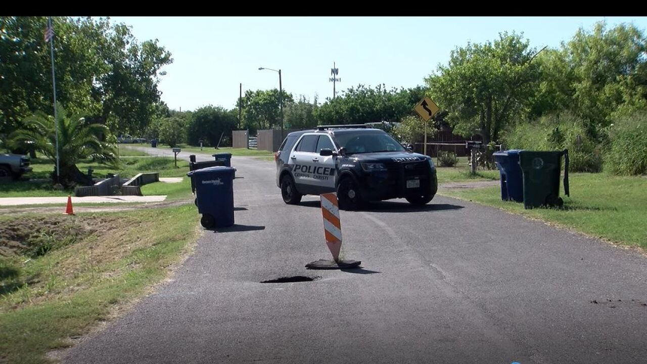 Sinkhole opens up in Flour Bluff neighborhood