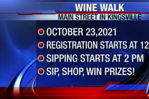 Sip and shop at Kingsville's monthly Wine Walk on Saturday