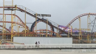 Roof damage on ride on OC pier