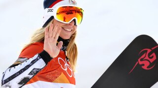 Ester Ledecka makes history with double gold in skiing, snowboarding