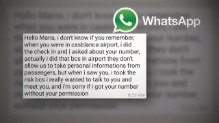 The airline worker's WhatsApp message to Mariah