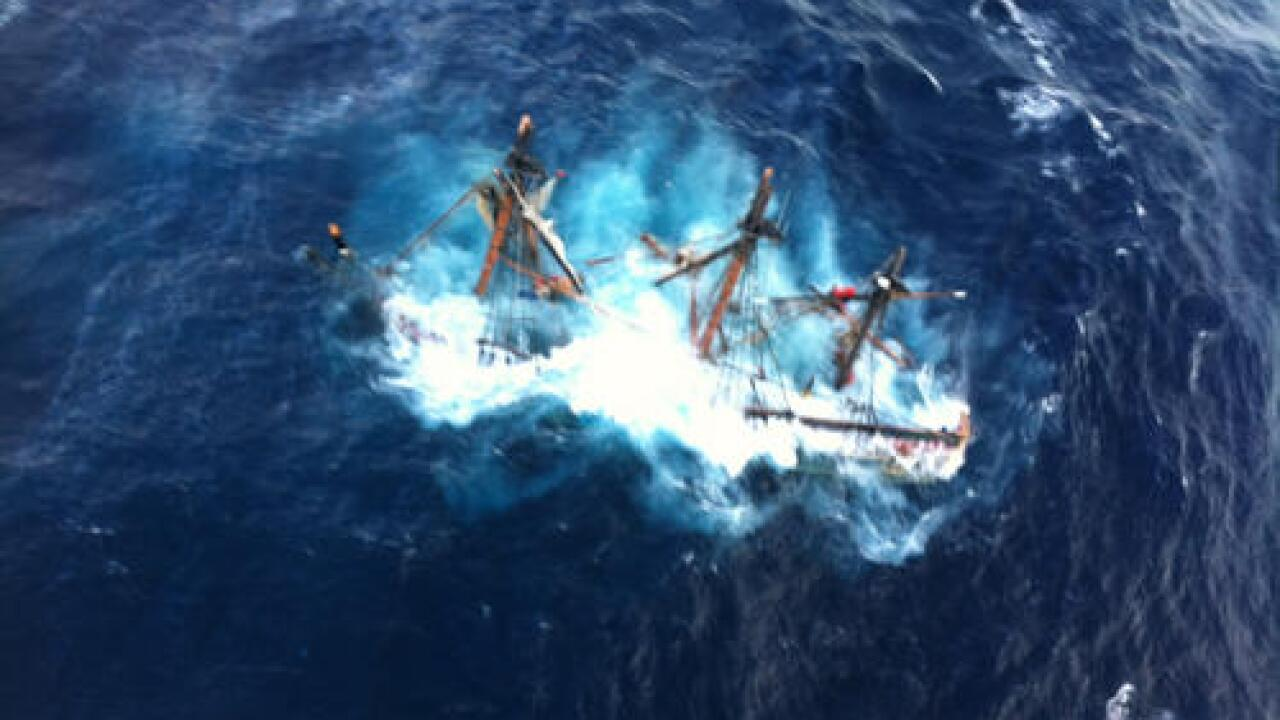 UPDATE: Coast Guard recovers body of missing HMS Bounty sailor, captain still missing