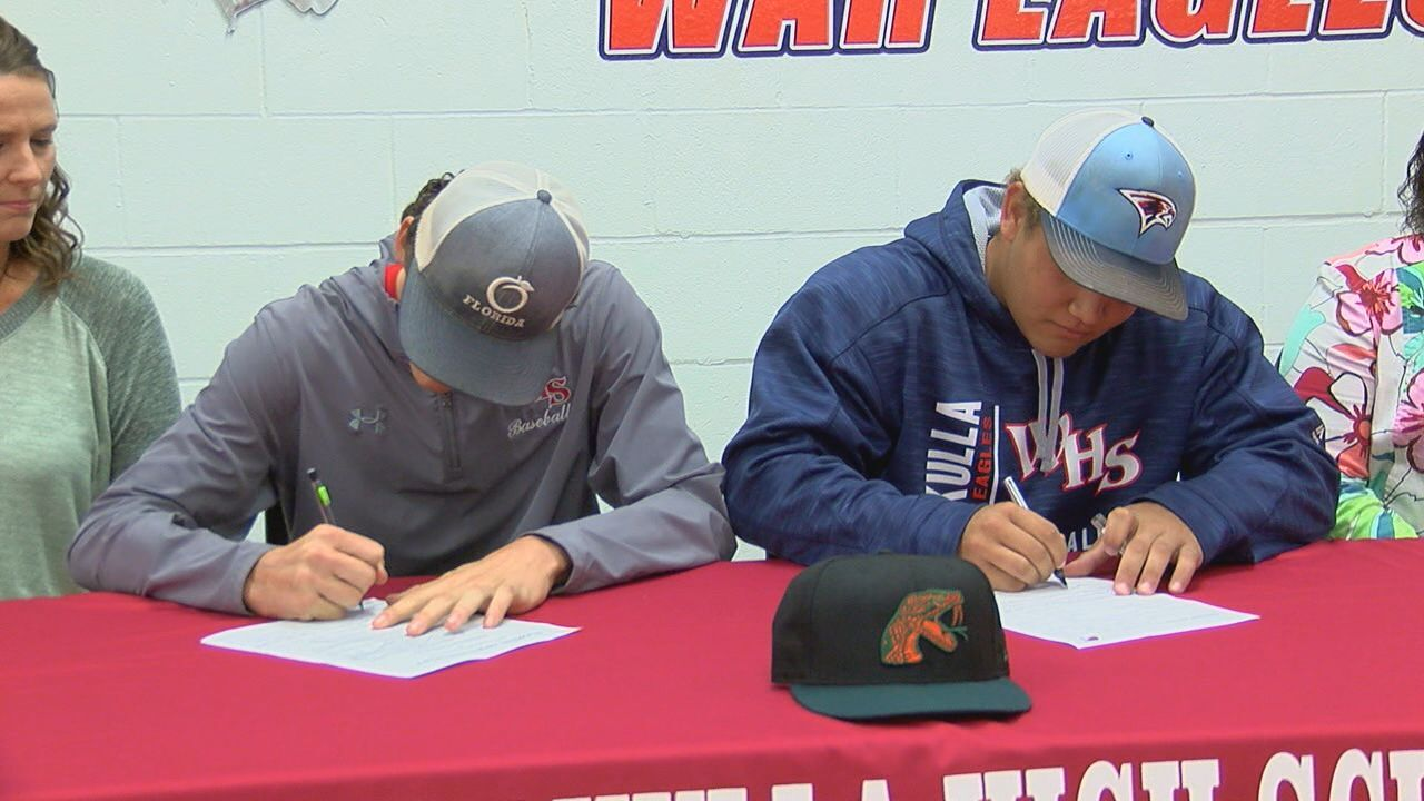 Two Wakulla baseball players sign with Florida A&M