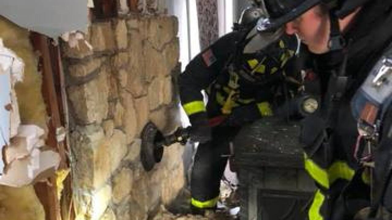 Bargersville Fire Department Works To Put Out Chimney Fire