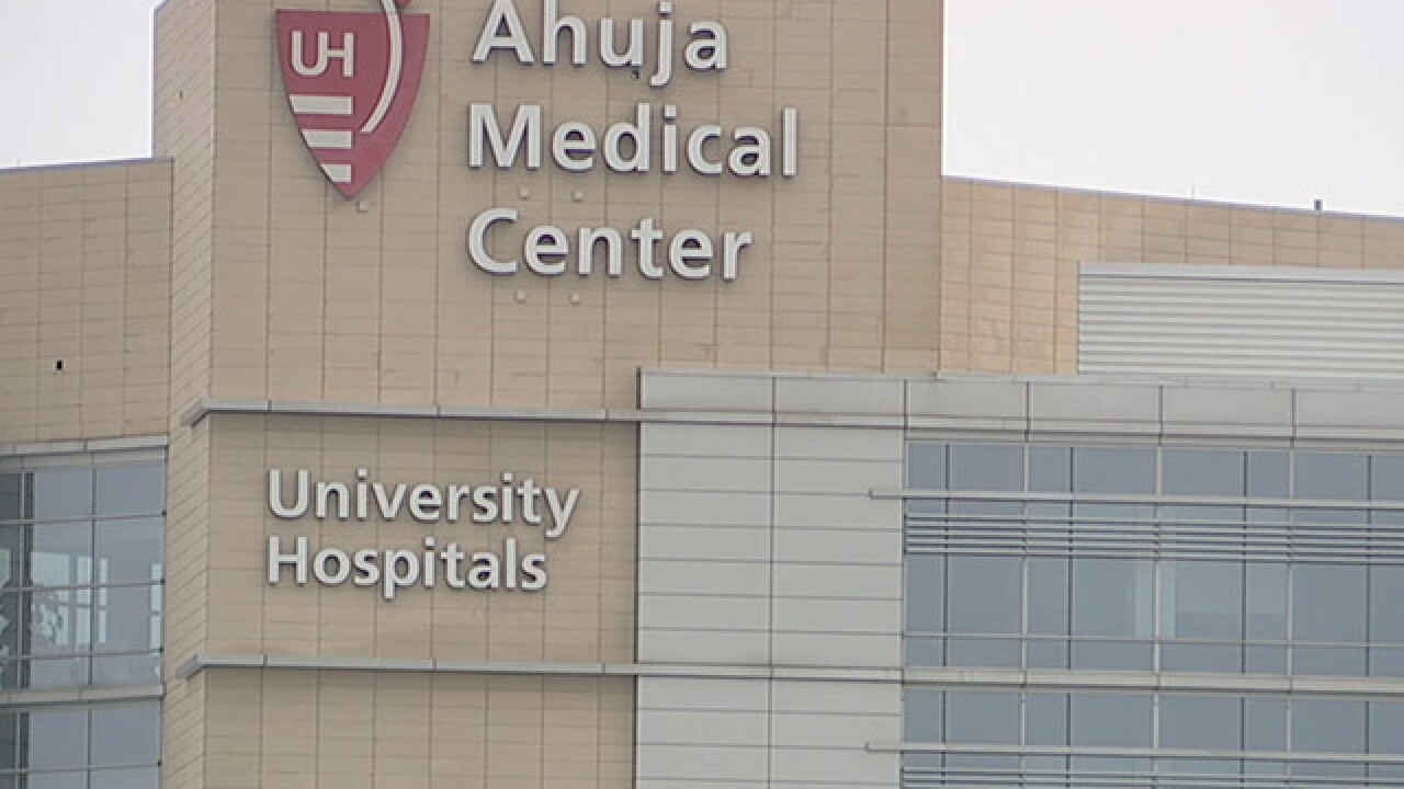 Letter from University Hospitals explaining storage tank