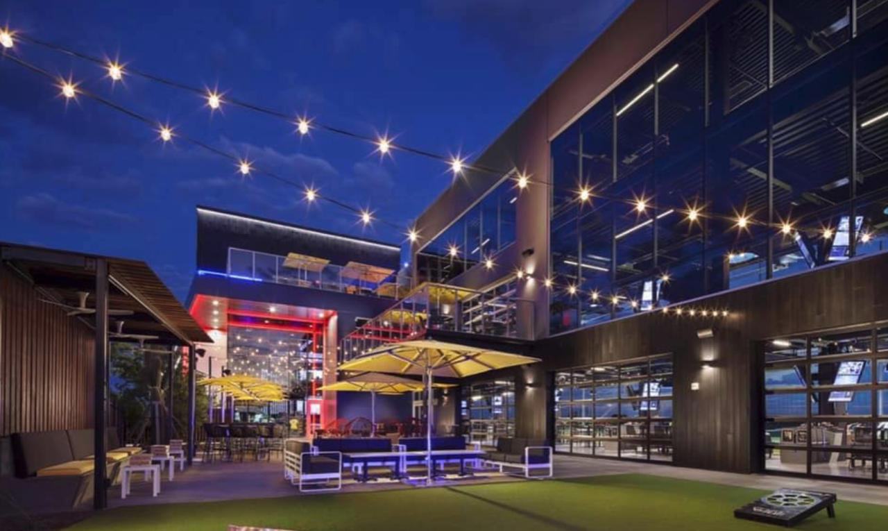 Topgolf patio