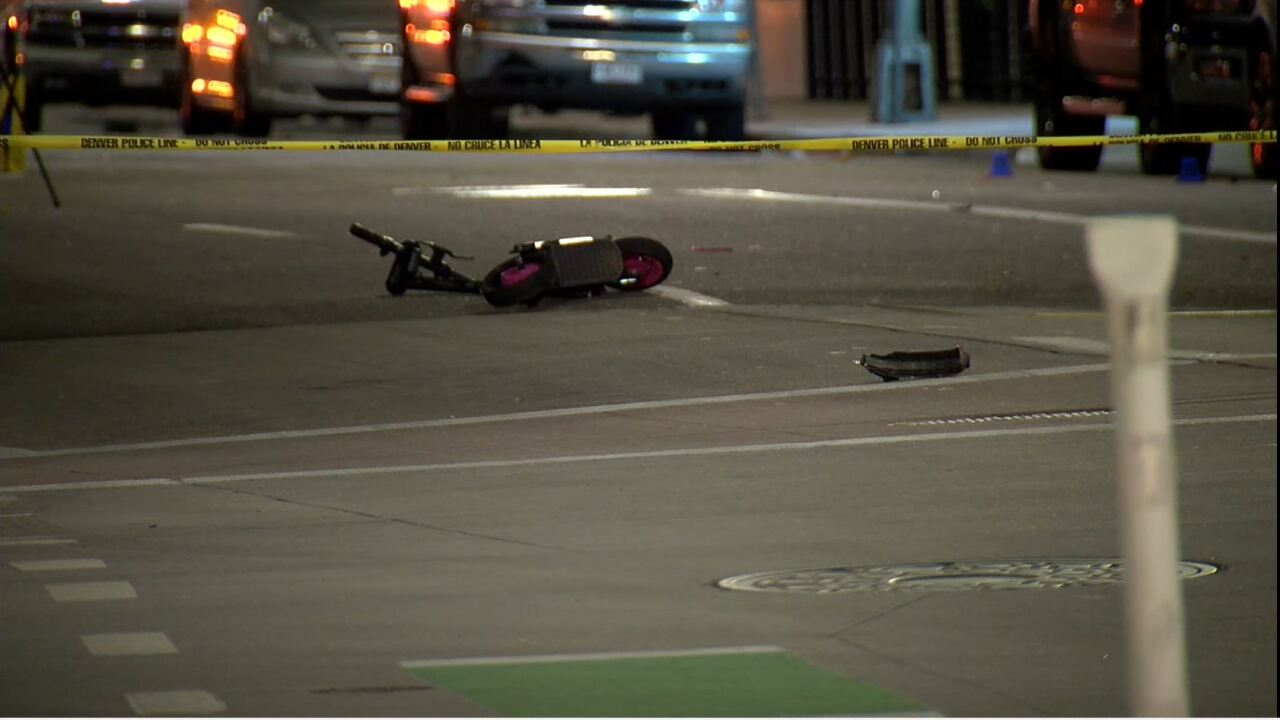 1 killed, 1 injured when car veered into group of scooter riders in Downtown Denver