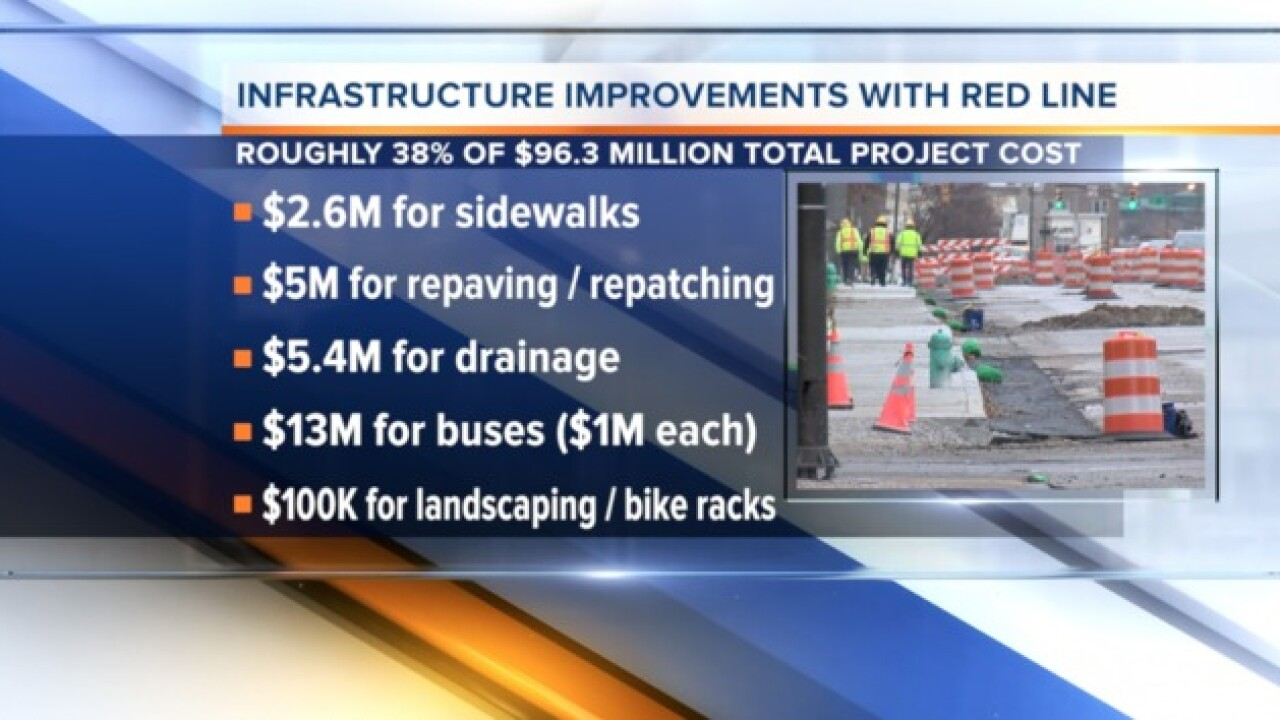 Red Line cost breakdown: Infrastructure
