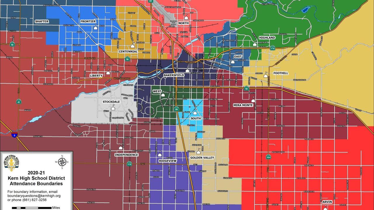 KHSD School Boundary Map 2020-2021