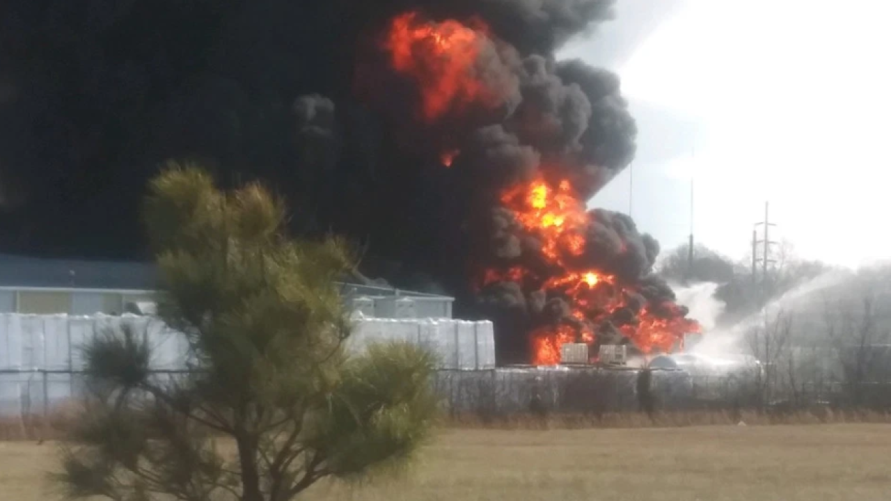 KNWA Photo of Bentonville Plant Fire.PNG