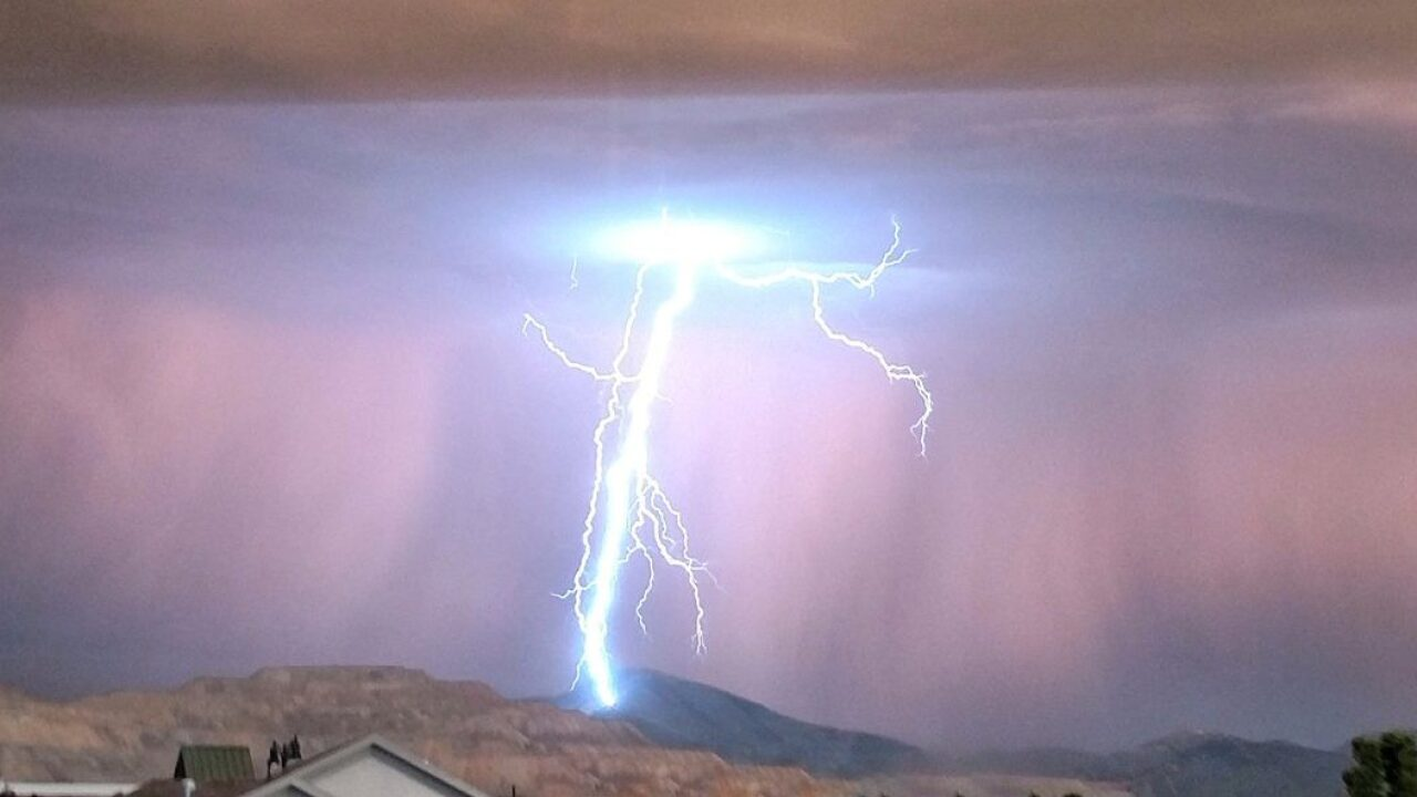 Damaging wind, large hail and lightning possible as thunderstorms move into northernUtah