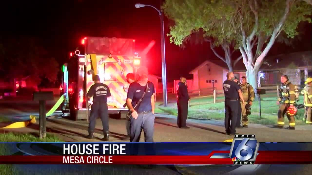 Firefighters battled a kitchen fire tonight in Annaville