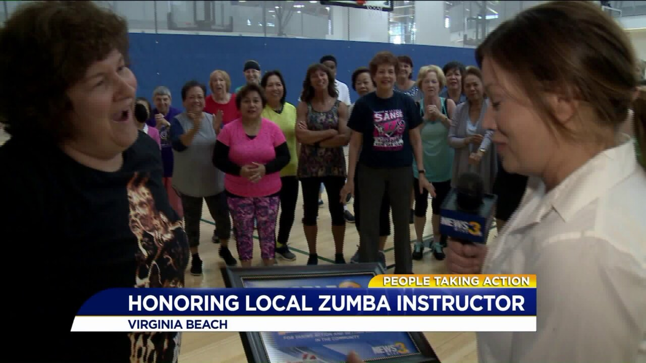 People Taking Action: Zumba teacher is an example of overcomingadversity