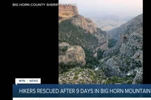 Hikers rescued in Big Horn Mountains after 9 days