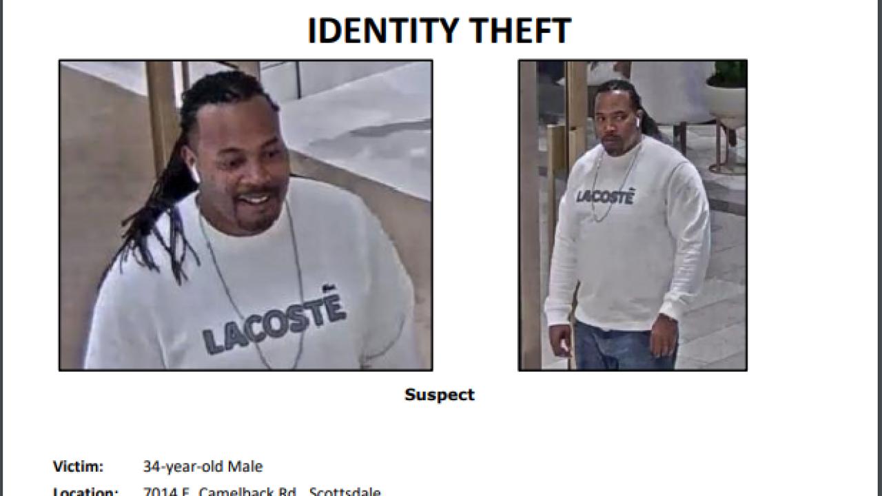 Fashion Square Identity Theft Flyer