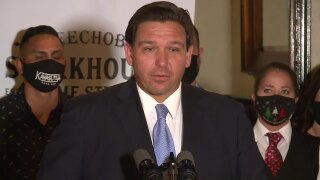 Gov. Ron DeSantis West Palm Beach news conference at Okeechobee Steakhouse, 12-15-20