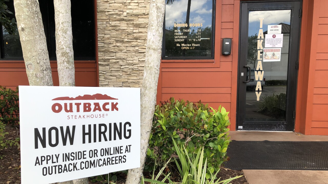 Restaurants are restoring more jobs lost during the pandemic.