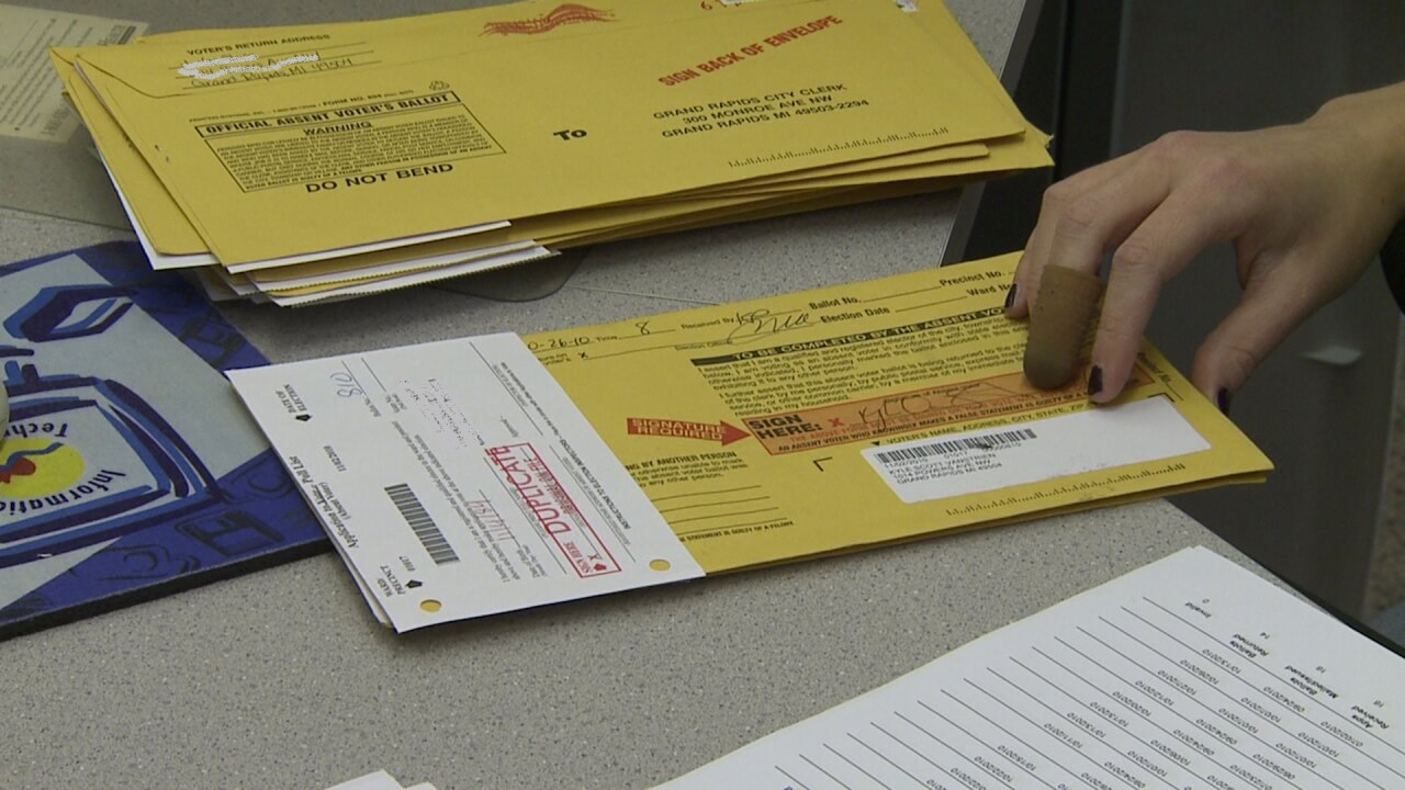 File photo Absentee ballot voting