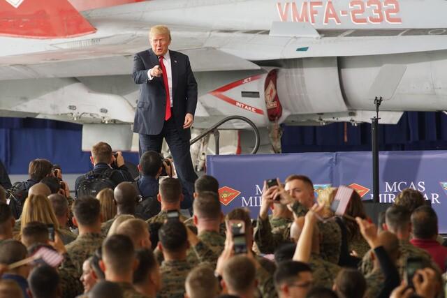 PHOTOS: President Trump speaks at MCAS Miramar