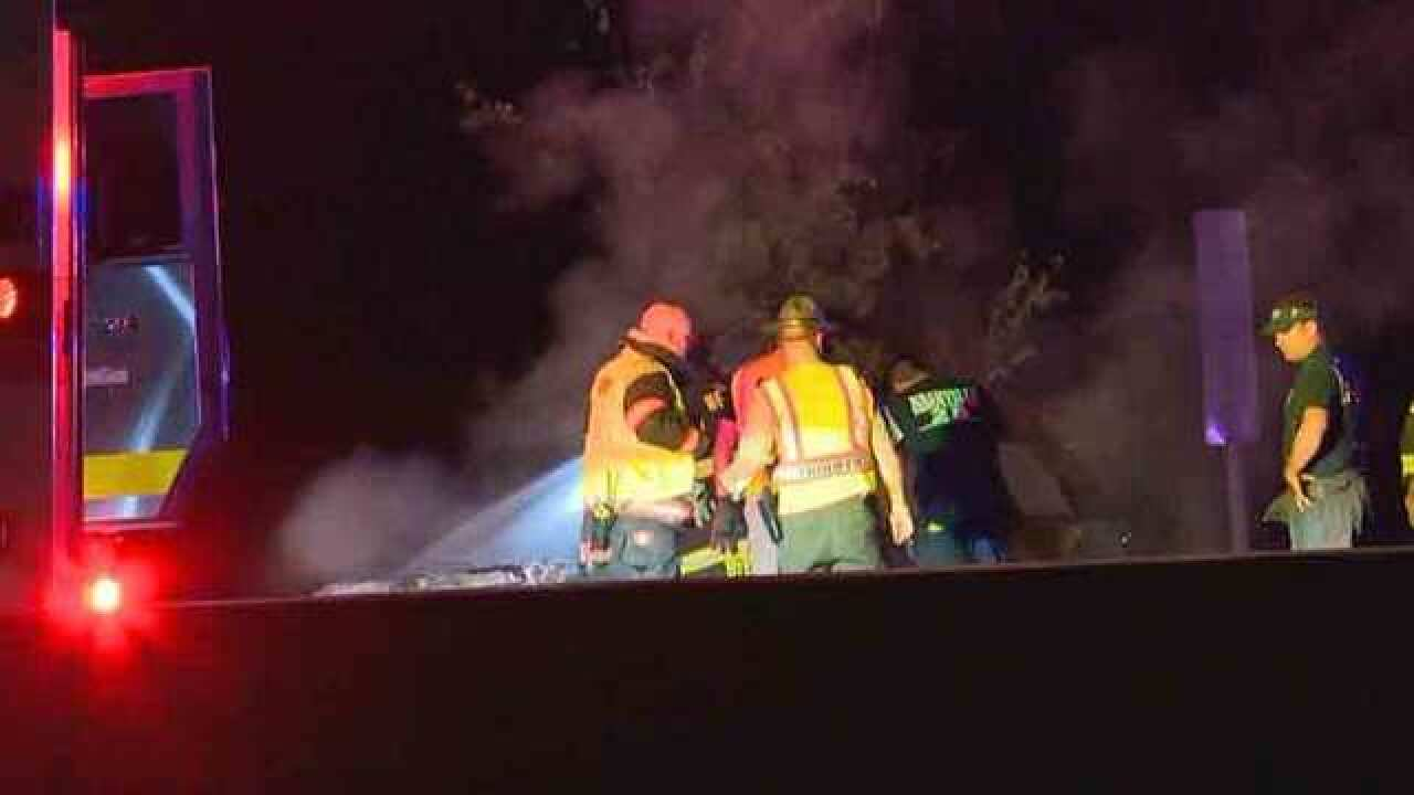 Fire Crash Closes Part of I-40E In Wilson Co.