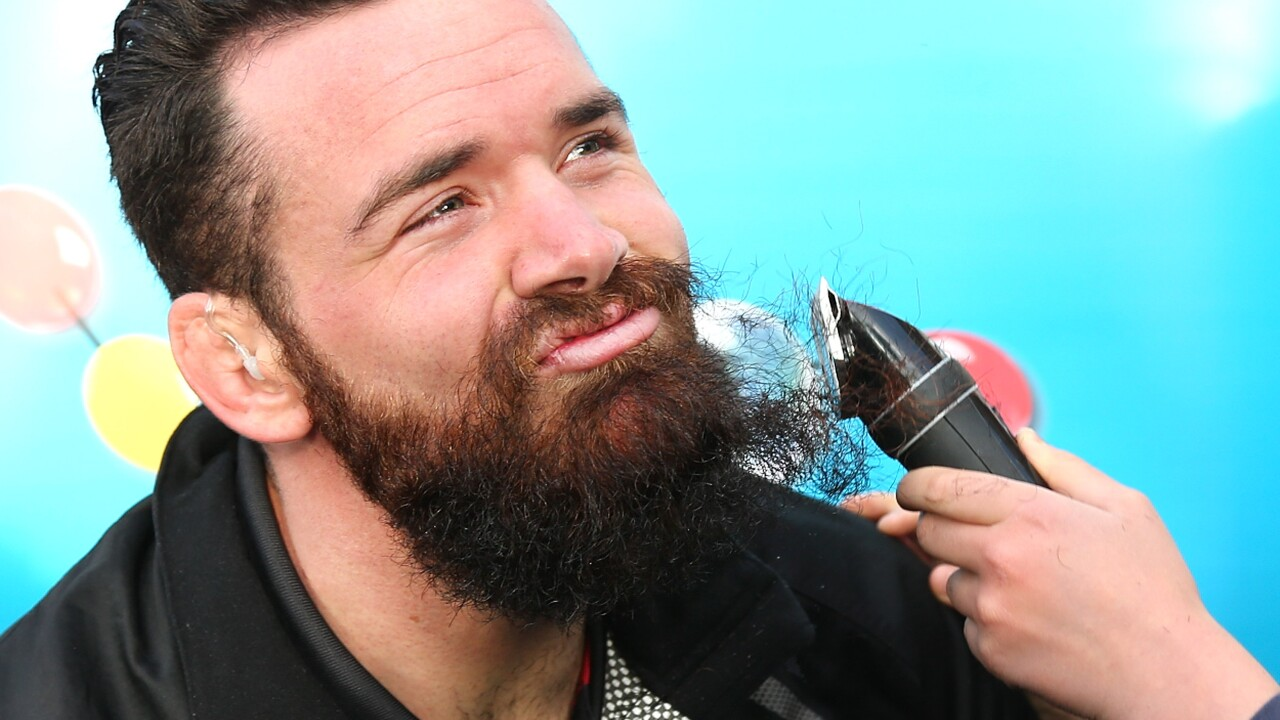 Ryan Crotty Shaves Beard For Charity