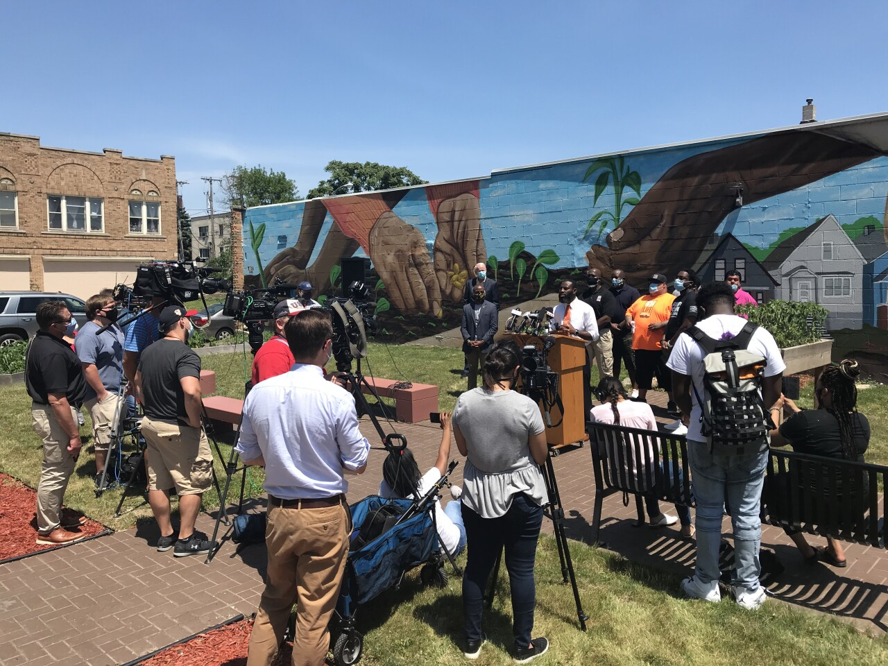 Press conference on racial equity and justice 070320