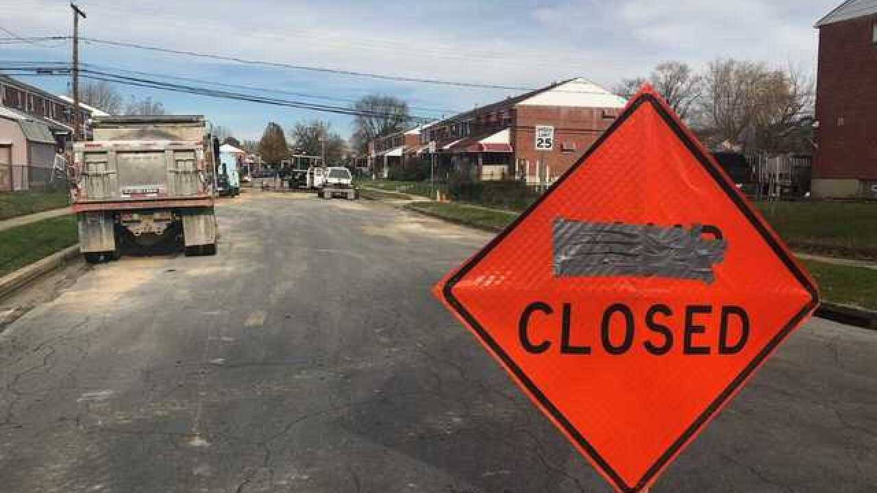Water main break creates sinkhole in Essex