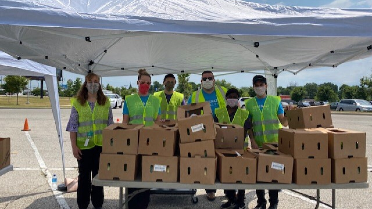 Eskenazi Health relies on its thriving volunteer base to distribute food boxes to families in need