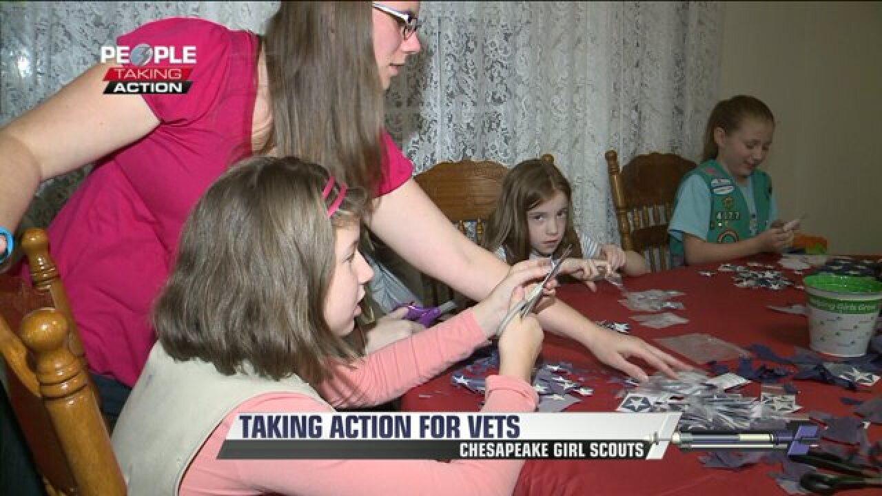 Girl Scouts in Chesapeake take action for Veterans Day