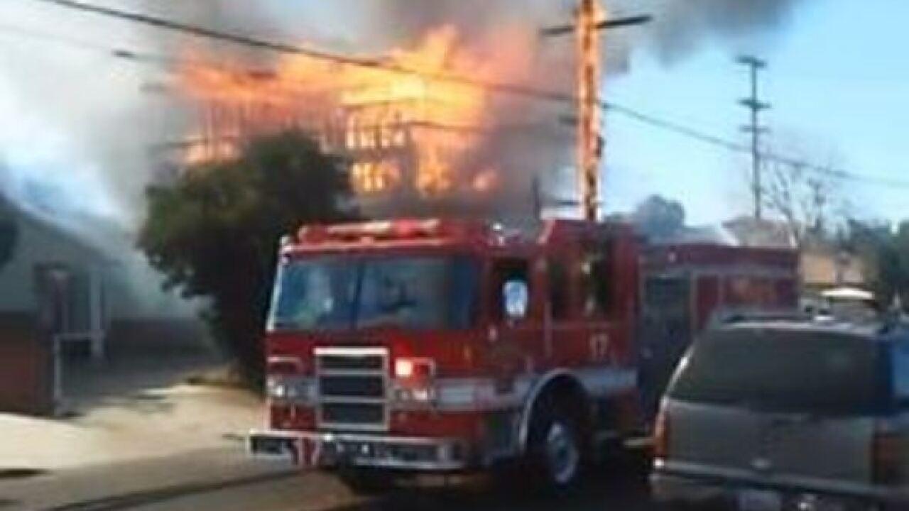Massive construction site fire in College Area