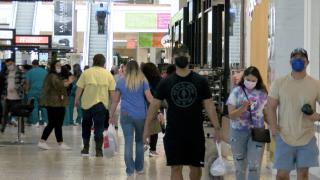 Shoppers at La Palmer Mall
