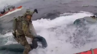 VIDEO: US Coast Guard board moving narco-sub at sea carrying 16,000 pounds of cocaine